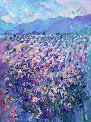 Print featuring the painting Wildflower Dawn by Erin Hanson