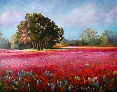Painting - Wildflower Fields Forever by Karen Kennedy Chatham