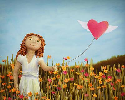 Wildflower Girl Art Print