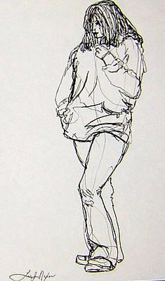 Drawing - Wildflower by Lee Nixon