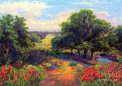 Countryside Painting - Wildflower Meadows Of Color And Joy by Jane Small