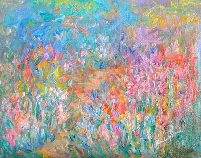 Painting - Wildflower Mist Stage One by Kendall Kessler