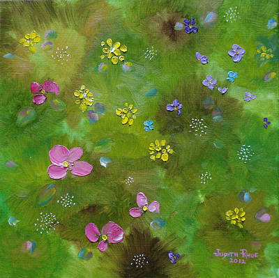 Painting - Wildflower Support by Judith Rhue