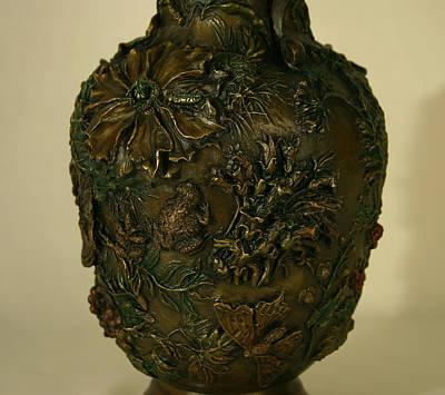 Wildflower Vase Detail Art Print by Dawn Senior-Trask