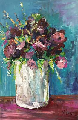 Painting - Wildflower Vase by Karen Ahuja