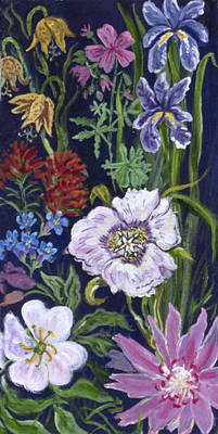 Painting - Wildflower Vignette From River Mural by Dawn Senior-Trask