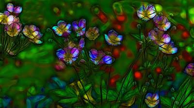 Abstrait Digital Art - Wildflowers - 2 by Jean-Marc Lacombe