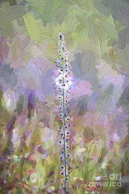 Photograph - Wildflowers - Abstract Art - Impasto Style by Kerri Farley