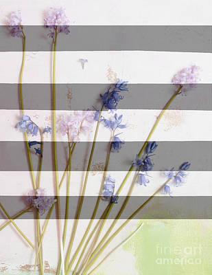 Anahi Decanio Mixed Media - Wildflowers And Stripe by WALL ART and HOME DECOR