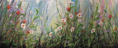 Wildflowers Art Print by Dee Carpenter