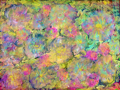 Underwater View Mixed Media - Wildflowers by Don  Wright