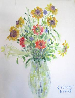 Painting - Wildflowers From Yard by Glenda Crigger