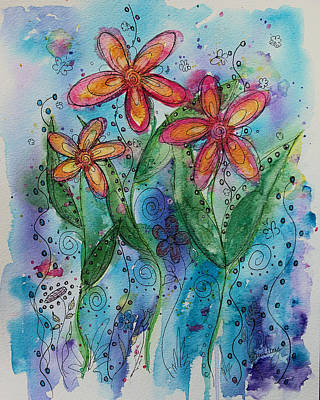 Painting - Wildflowers by Heather Saulsbury