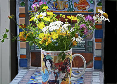 Photograph - Wildflowers In Coffee Mug by Nareeta Martin