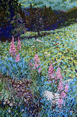 Painting - Wildflowers In The Rockies by Bonnie Follett