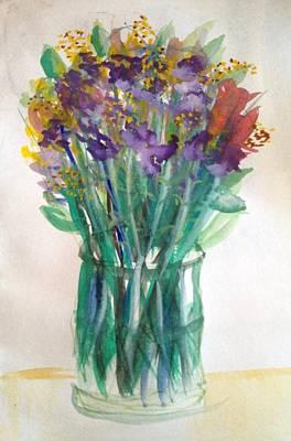 Painting - Wildflowers In Vase by Gloria Cooper