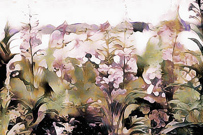 Mixed Media - Wildflowers In Watercolor by Susan Maxwell Schmidt