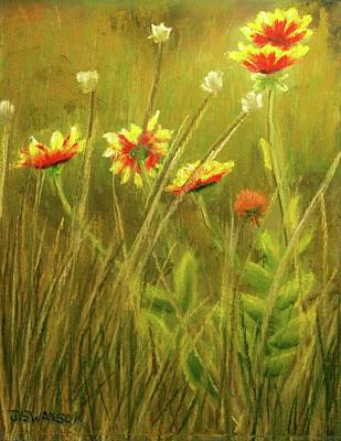 Wildflowers Art Print by Joan Swanson