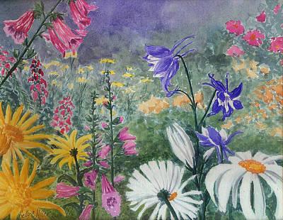 Wildflowers Original by Kelly Miller