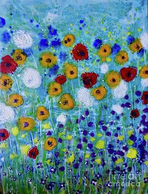 Painting - Wildflowers Never Die by Amy Stielstra