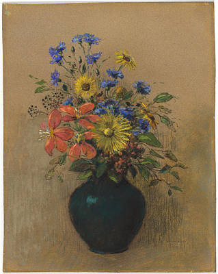 Painting - Wildflowers by Odilon Redon