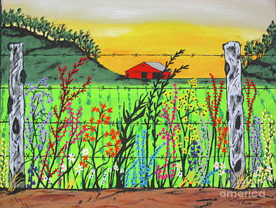 Painting - Wildflowers On The Farm by Jeffrey Koss