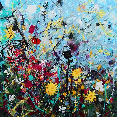 Painting - Wildflowers Panel1 by Angie Wright