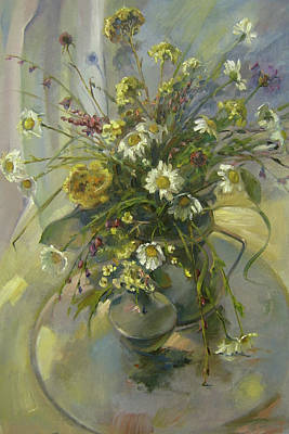 Drapery Painting - Wildflowers by Tigran Ghulyan