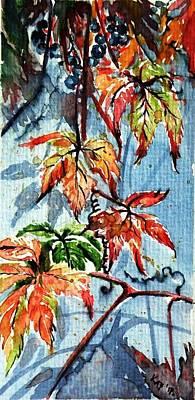 Painting - Wildgrape by Kovacs Anna Brigitta