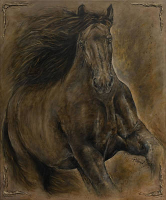 Wildheart....sang To Me Art Print by Paula Collewijn -  The Art of Horses