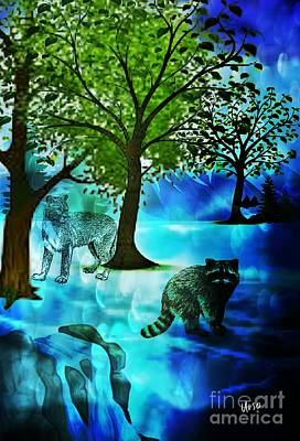 Digital Art - Wildlife 17-01 by Maria Urso