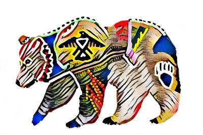 Digital Art - Wildlife Bear 1 by Ayasha Loya