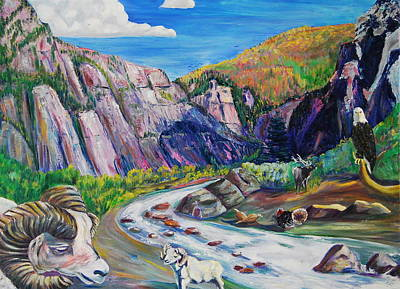 Wildlife On The Colorado River Art Print by George Chacon