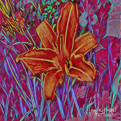 Mixed Media - Wildtiger Lily  by MaryLee Parker