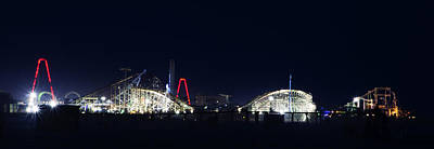 Pier Photograph - Wildwood Adventure Pier At Night by Bill Cannon