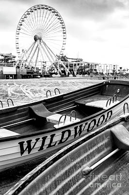 Amusement Park Photograph - Wildwood Black by John Rizzuto