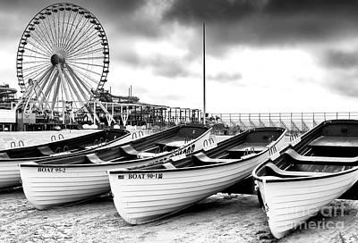 Photograph - Wildwood Lifeguard Boats by John Rizzuto