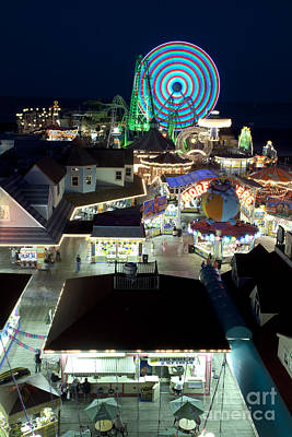 Rollercoaster Photograph - Wildwood New Jersey Boardwalk  by Anthony Totah