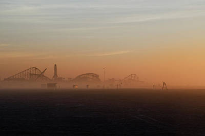 Roller Coaster Digital Art - Wildwood New Jersey Just Before Dawn by Bill Cannon