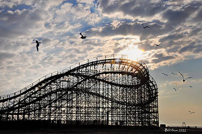Roller Coaster Digital Art - Wildwood Roller Coaster by Bill Cannon