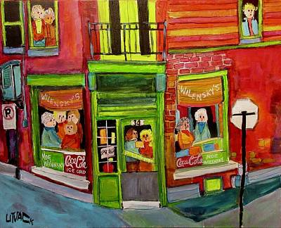 Painting - Wilensky's Reunion by Michael Litvack