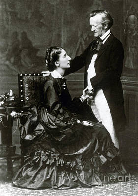 Wilhelm And Cosima Wagner Art Print by Science Source