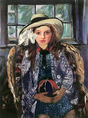 1910s Painting - Wilhelmine With Ball 1915 by Mountain Dreams