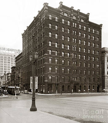 Wilkes Barre Pa Hollenback Coal Exchange Building Corner Of Market And River Sts April 1937 Art Print