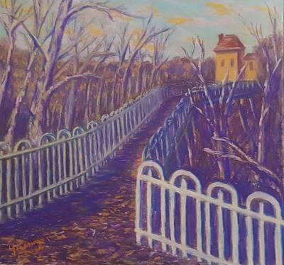 Pastel - Wilksboro Bridge Northside Pittsburgh by Joann Renner