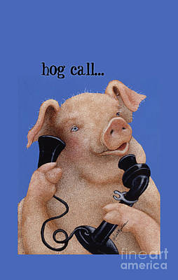 Painting - Will Bullas Phone Cover Hog Call  by Will Bullas