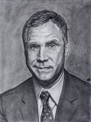 Will Ferrell Drawing - Will Ferrell  by Steph Maiden