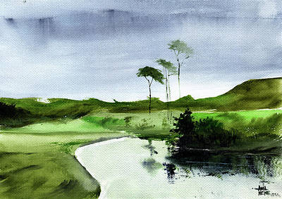 Painting - Will It Rain Today? by Anil Nene