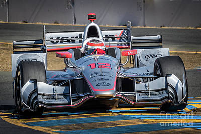 Indycar Photograph - Will Power by Webb Canepa