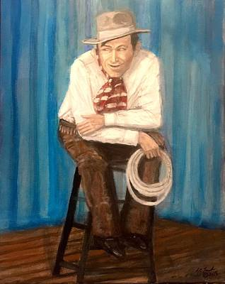 Painting - Will Rogers Oklahoma Artist Larry Lamb  by Larry Lamb